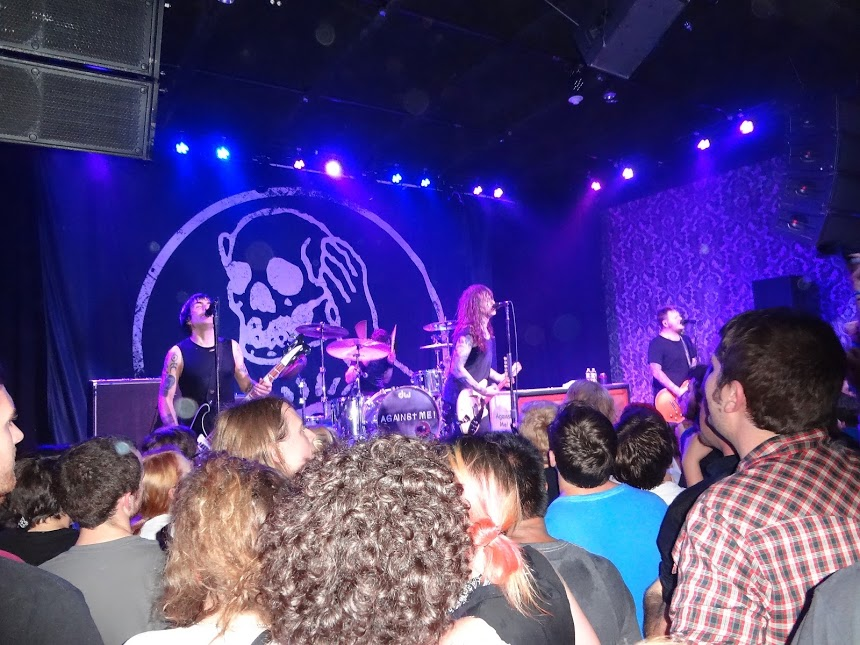 Photo of the stage at an Against Me! Concert